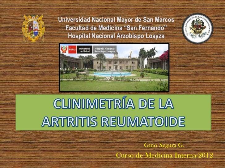 """Universidad Nacional Mayor de San Marcos  Facultad de Medicina """"San Fernando""""   Hospital Nacional Arzobispo Loayza        ..."""