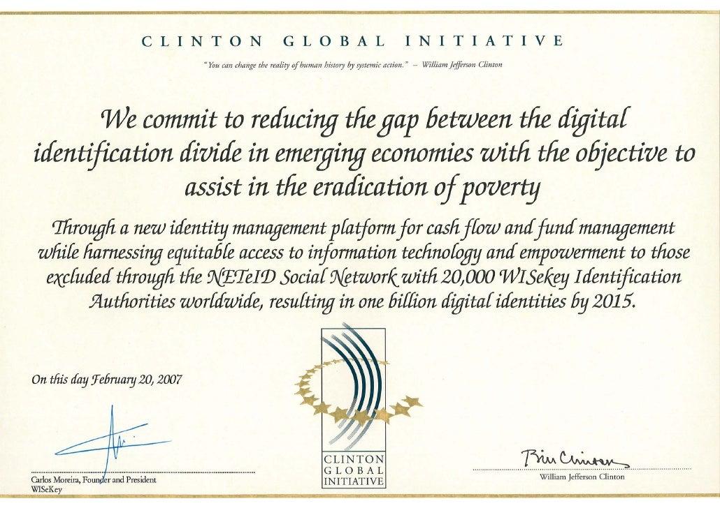 Clinton Global Initiative(Certificate)