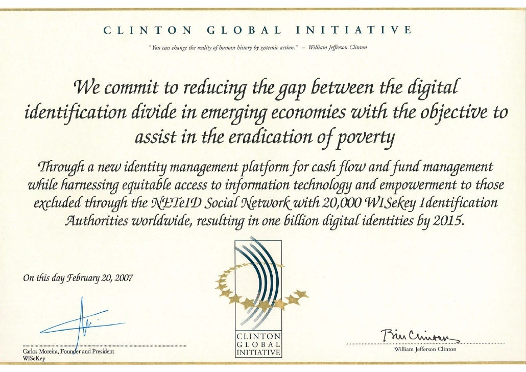Clinton Global Initiative(Certificate)