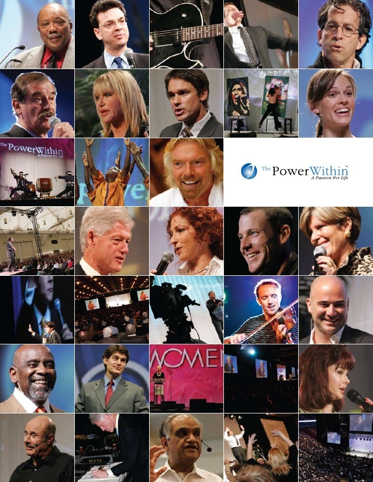 THE POWER WITHIN      Sponsorship     Program     The Power Within is an internationally     renowned, multi media event m...