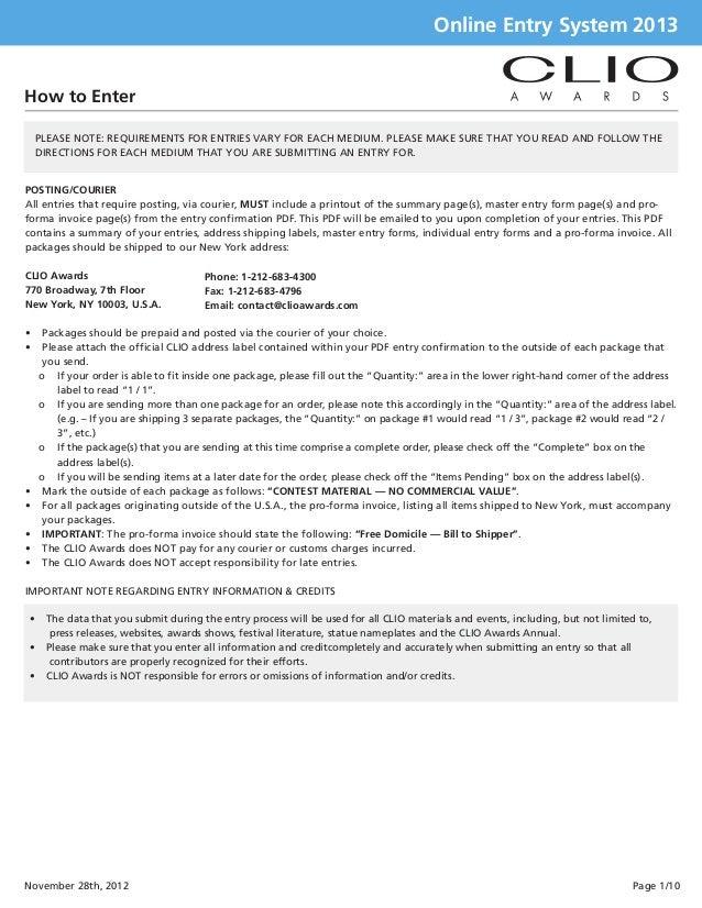 Clio guidelines2013  eligibility & fees