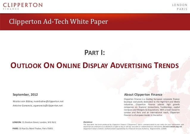 Clipperton ad-tech white paper - September 2012