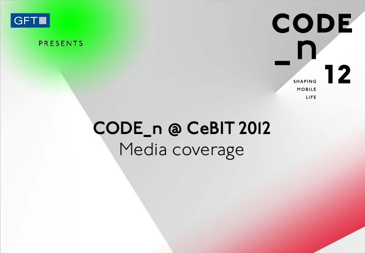 CODE_n: Media Coverage at CeBIT 2012