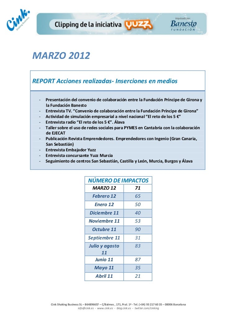 Marzo 2012 clipping online