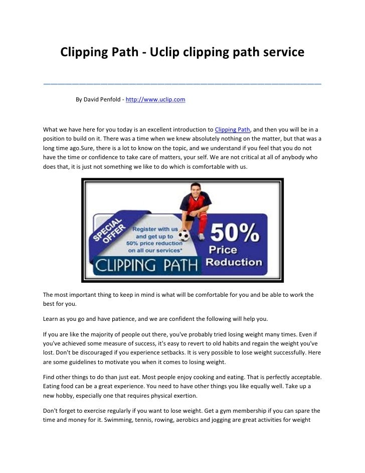 Clipping Path - Uclip clipping path service_______________________________________            By David Penfold - http://ww...