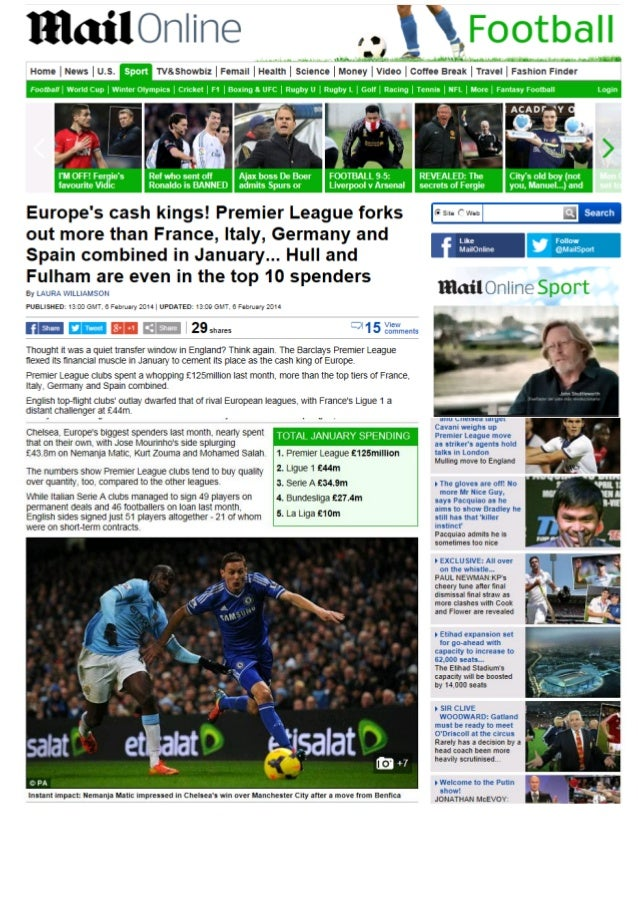 -Coverage Book- Soccerex Transfer Review 2014 winter editon by Prime Time Sport