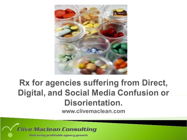 Rx for Ad Agencies Suffering From Direct,  Digital and Social Media Confusion or Disorientation