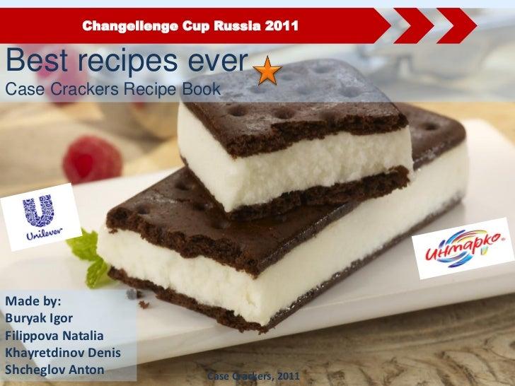 Changellenge Cup Russia 2011Best recipes everCase Crackers Recipe BookMade by:Buryak IgorFilippova NataliaKhayretdinov Den...