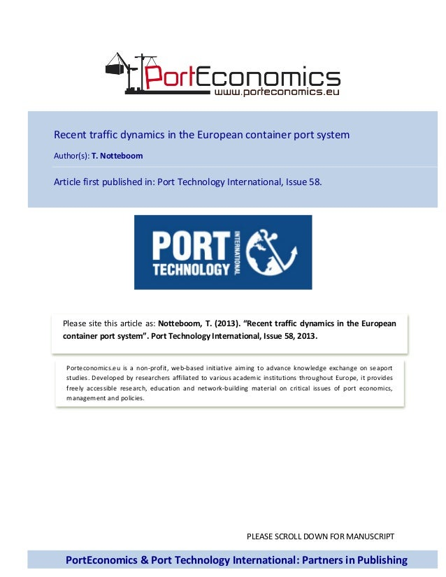 Recent traffic dynamics in the European container port system