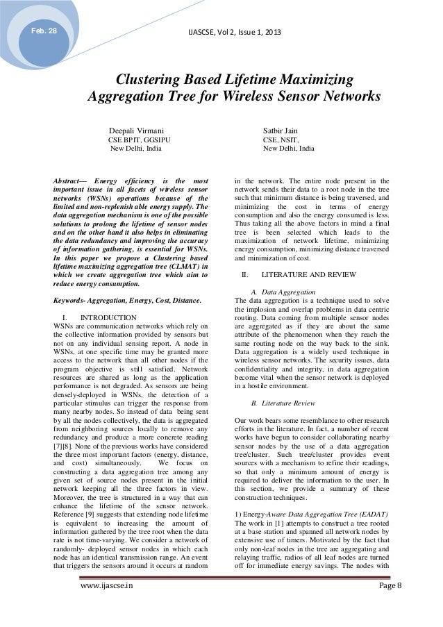 Feb. 28                                             IJASCSE, Vol 2, Issue 1, 2013                    Clustering Based Life...