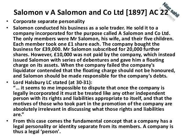 salomon v salomon essay