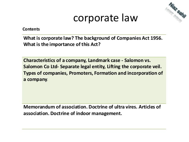 What is co-operate law?
