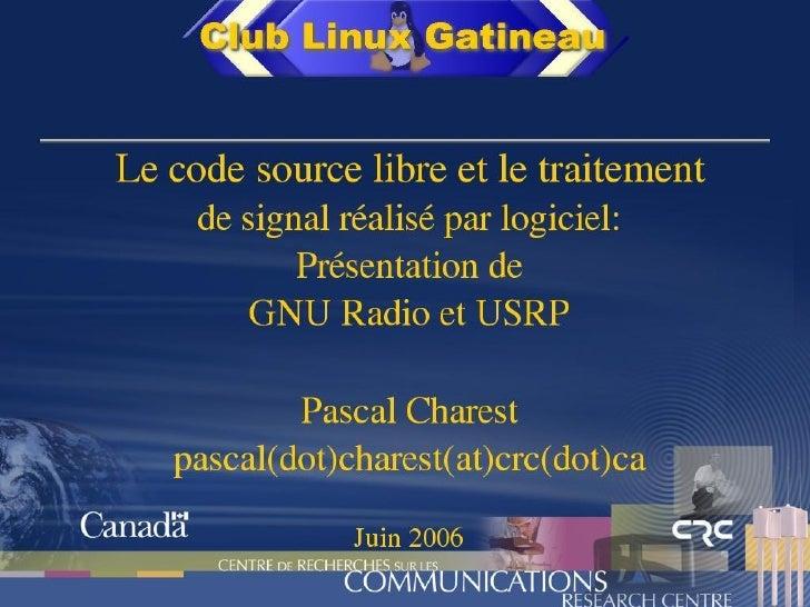 CLG - GNURadio et USRP