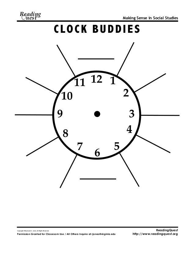 Clock partners clock buddies