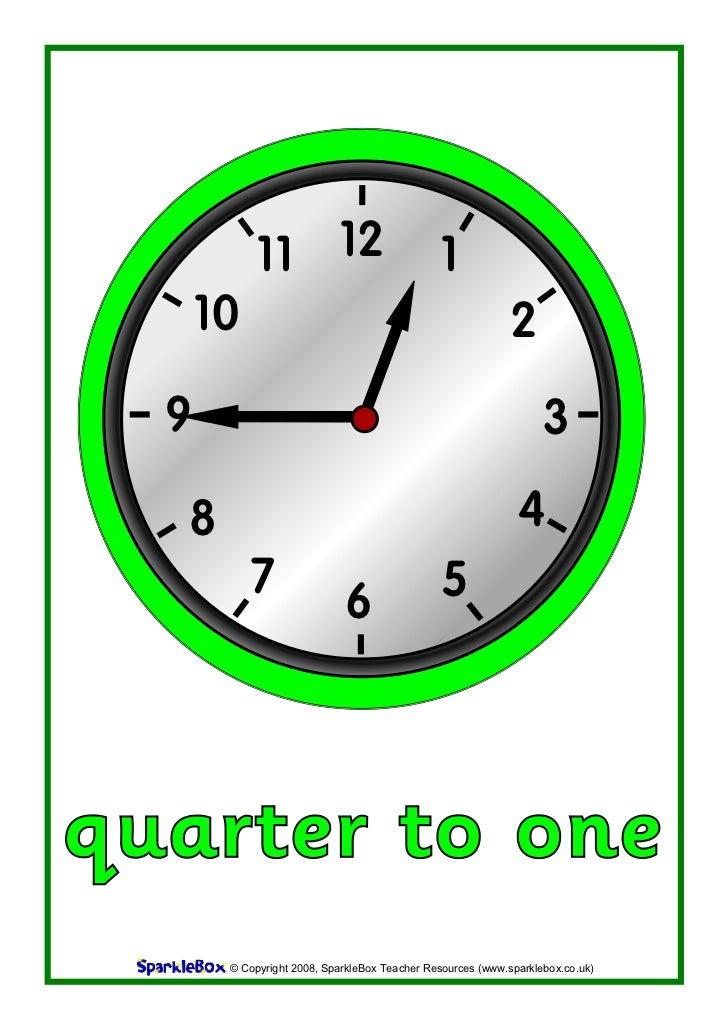 Clock quarter to