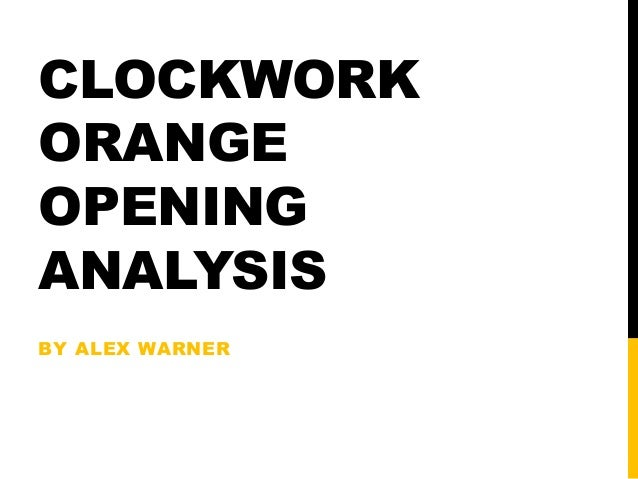 a clockwork orange a critical analysis A clockwork orange though the film is, at times, hard to understand and subtitles may be found useful, this does not change the impact the movie has it may even add to the atmosphere kubrick is attempting to create and emphasize.