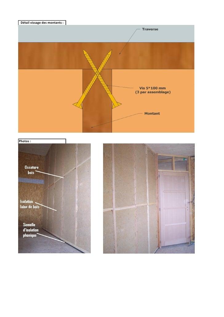 Cloison ossature bois calcul du co u00fbt au m u00b2 bois et paille (tarif aout u2026 # Bois Pour Ossature Bois
