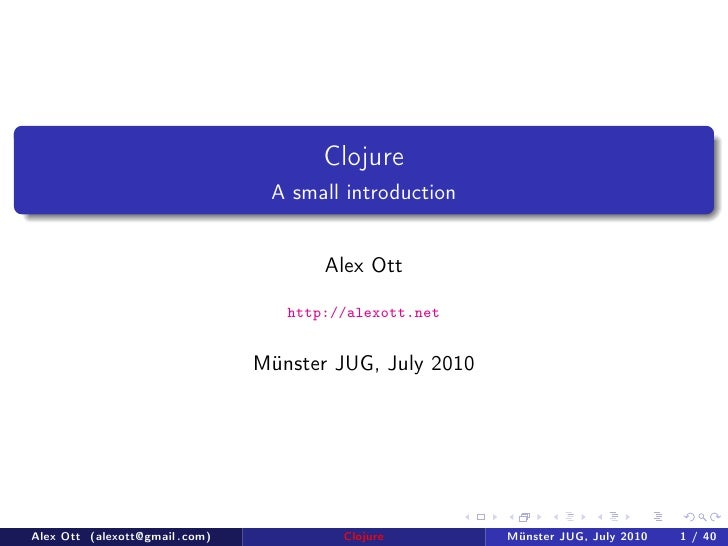 Clojure talk at Münster JUG