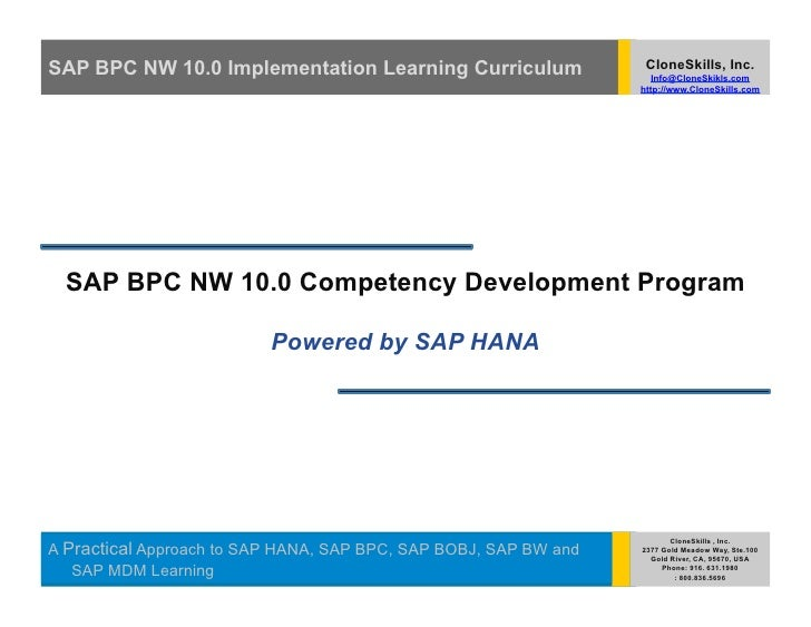 New Batch Starting Soon! SAP BPC NW 10.0 Implementation Learning Powered by SAP HANA