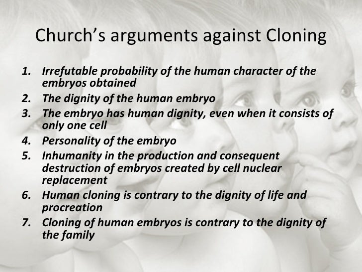 human cloning essay thesis Ethical essay on human cloning introduction cloning is more offspring that produce identical cells cloning is some by using genetic material from a single cell and.