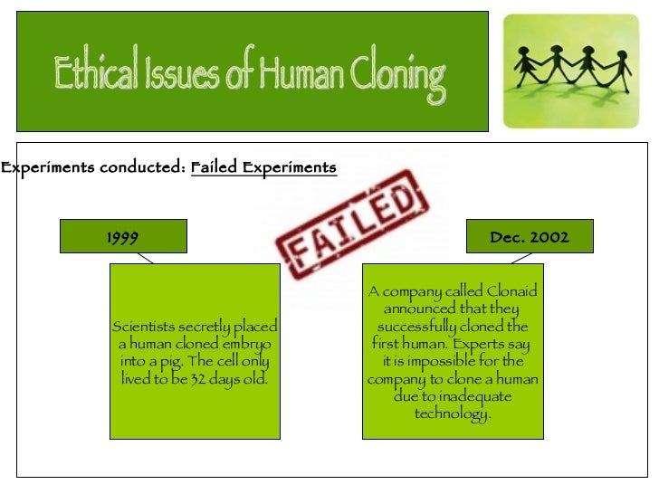 an analysis of the issues of cloning The disadvantages of cloning include increased risk of inherited diseases, lack of gene variation, ethics and religious dogma associated with it the term cloning refers to a number of processes used.