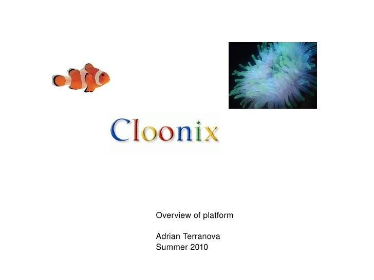 Overview of platform Adrian Terranova Summer 2010