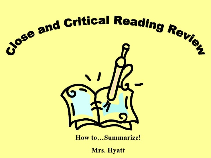Close And Critical Reading Review
