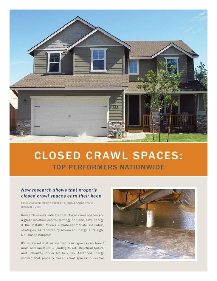MCM detailed Closed Crawl Spaces