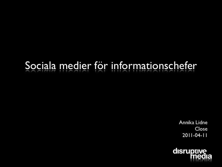 Sociala medier för informationschefer
