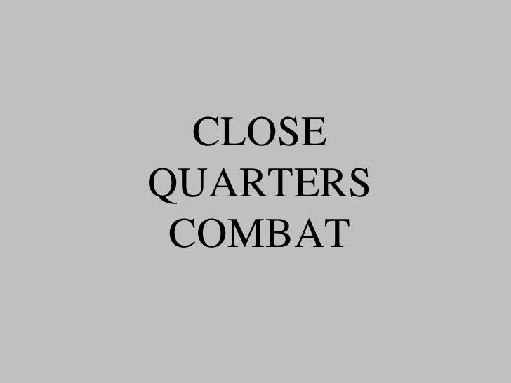 Close quarters combat(magyar)
