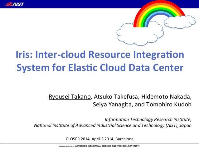 Iris: Inter-cloud Resource Integration System for Elastic Cloud Data Center