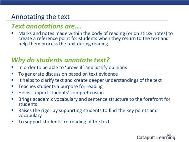what does annotating an essay mean Annotate definition, to supply with critical or explanatory notes comment upon in notes: to annotate the works of shakespeare see more.