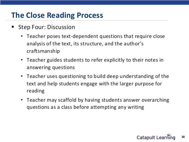Structure Close Reading Essay