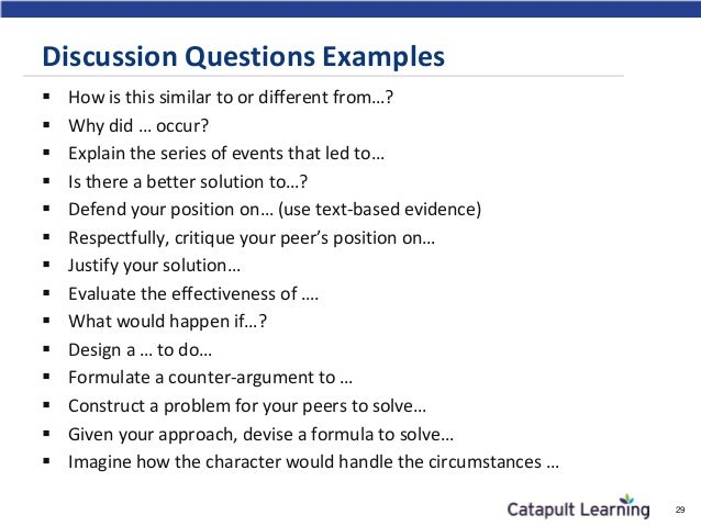 discussion question essay example Midterm and final exam examples exams are a great way to reinforce and evaluate students' understanding of the course content and main ideas there are several different ways to approach exams including an in-class essay, short essays, multiple choice, short answer, fill in the blank, matching, quote/passage identification, character identification, etc with plenty of flexibility for what an.