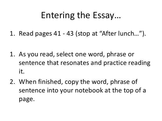 Higher English 09 Close Reading passage 1?