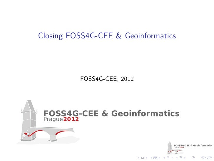 FOSS4G-CEE Closing presentation