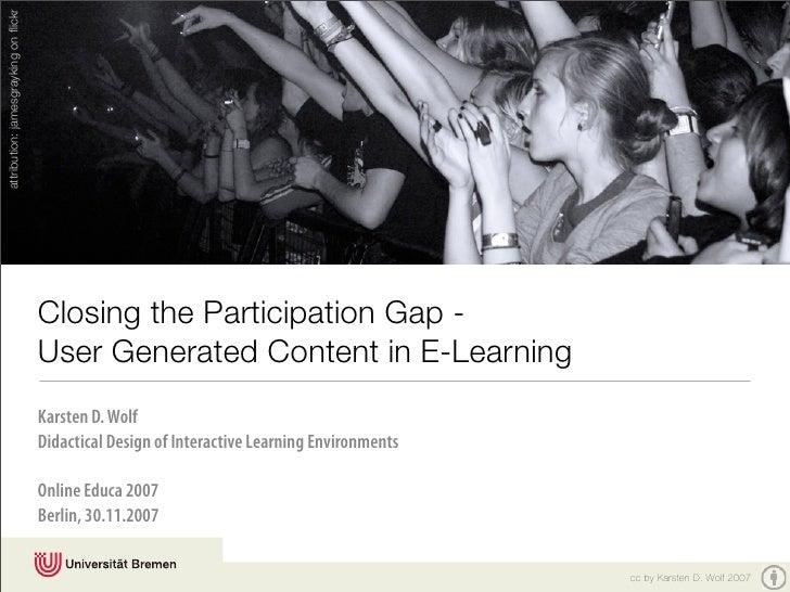 attribution: jamesgrayking on flickr                                           Closing the Participation Gap -             ...