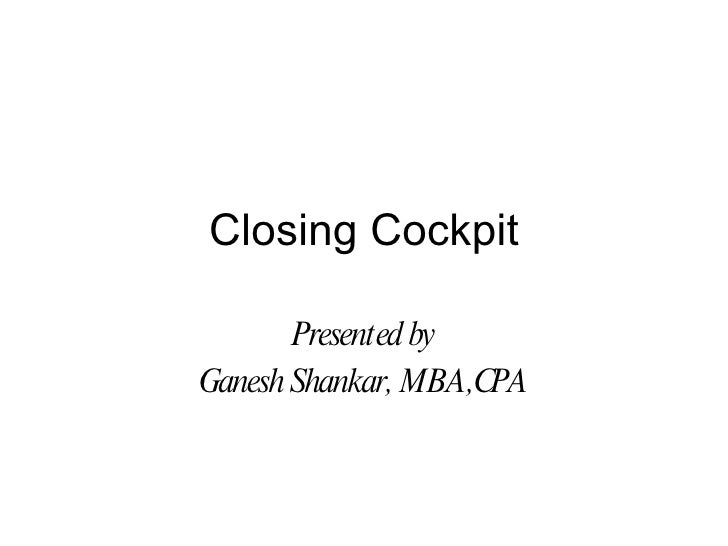 Closing Cockpit Ver6
