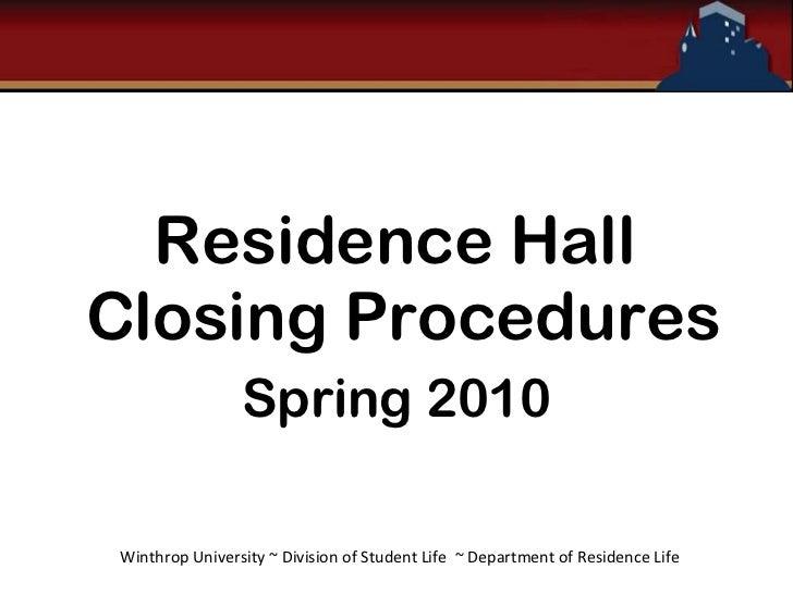 Closing Procedures Training