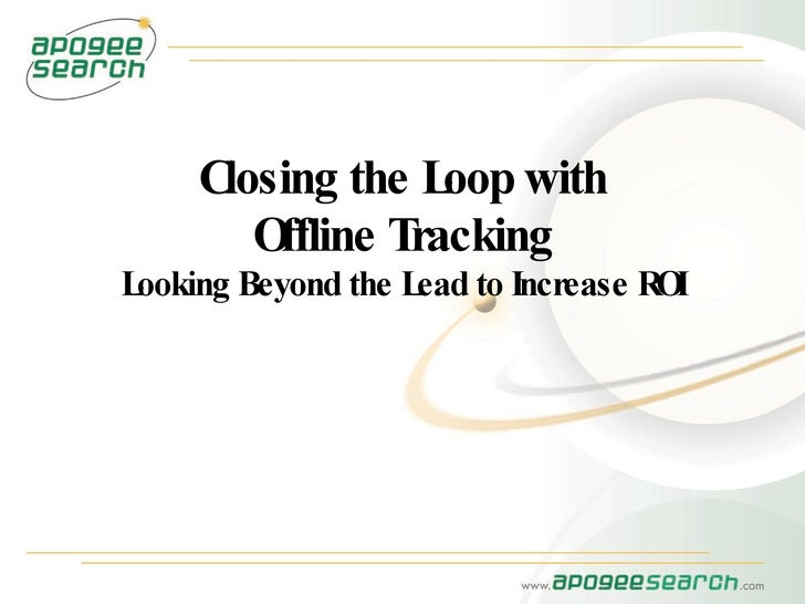 Closing The Loop with Offline Tracking