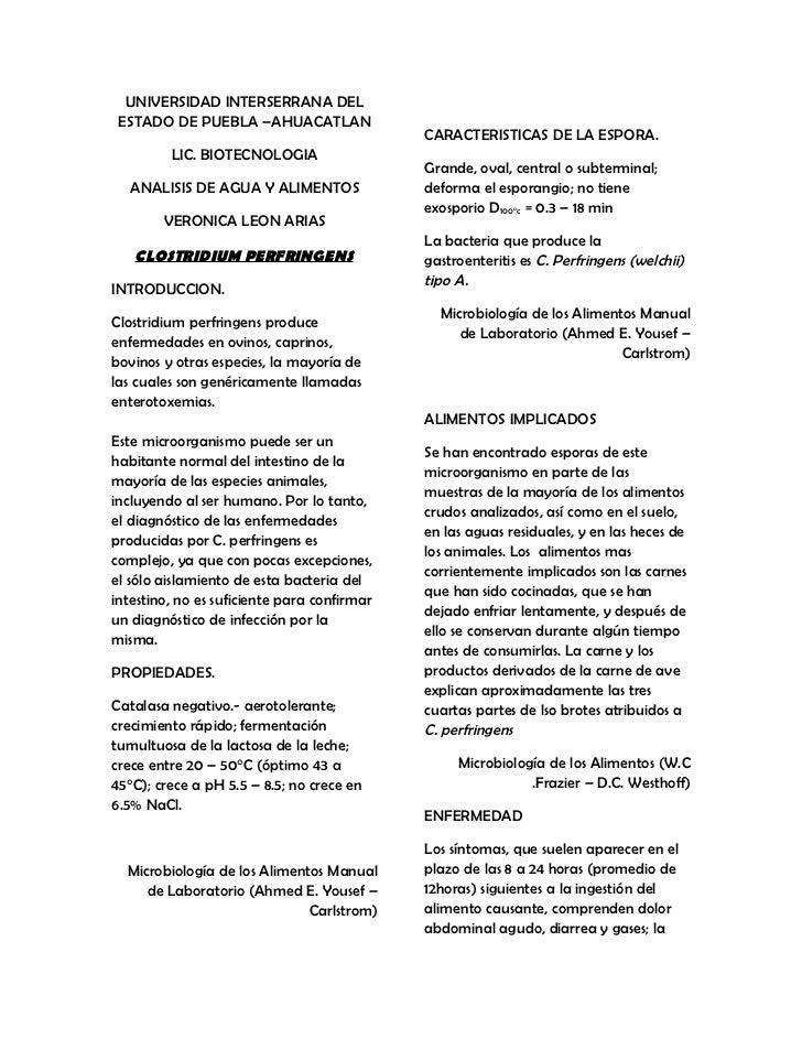 Clostridium perfringens Vero Leon