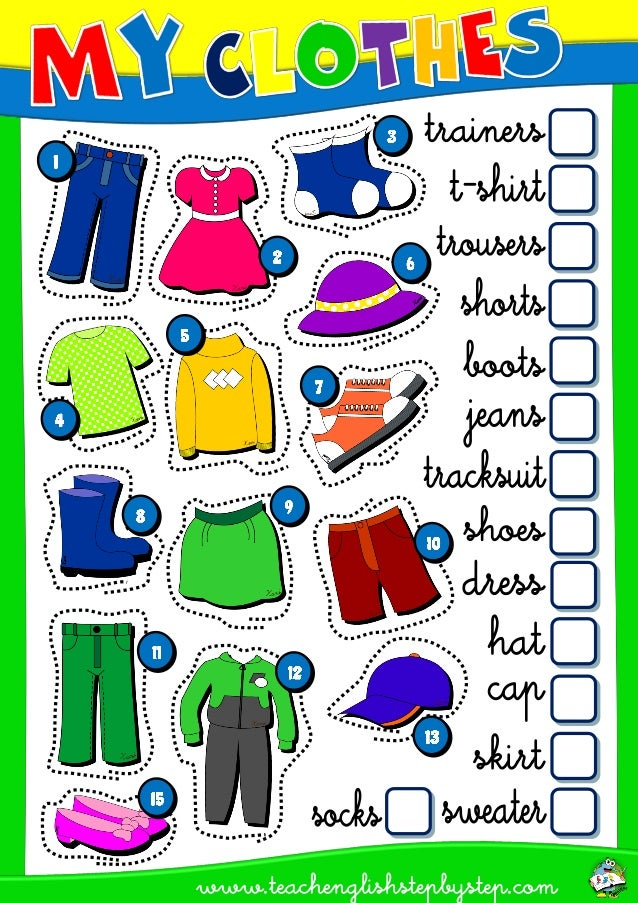 ESL WORKSHEET - CLOTHES AVAILABLE IN PACK ENGLISH STEP BY STEP - 3RD ...