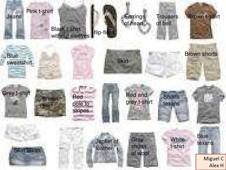 Clothes and complements eso1 a