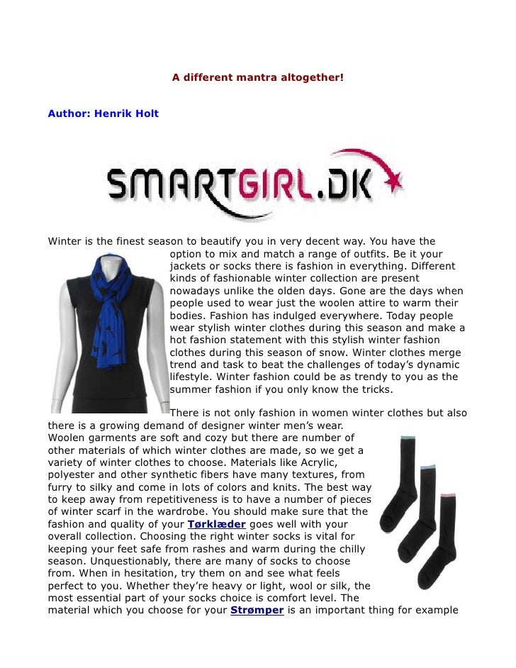 Clothes for all - SmartGirl.dk