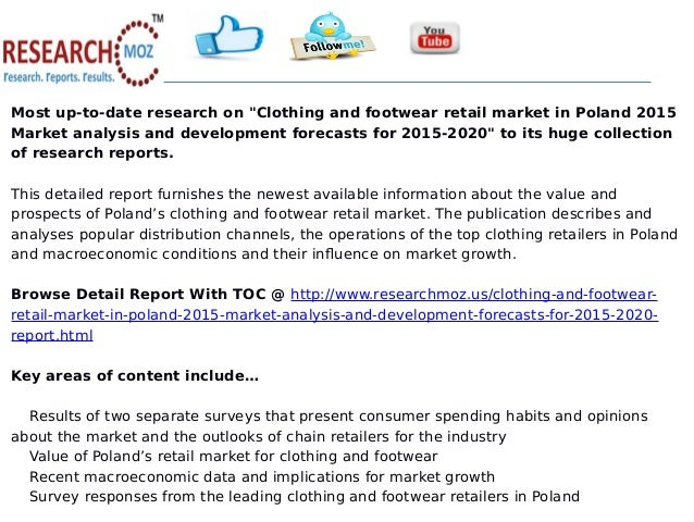 clothing and footwear retail market in Clothing & footwear retailing in the uk, market shares, summary and forecasts to 2021 with 63 pages available at usd 2500 for single user pdf at reportsweb research.
