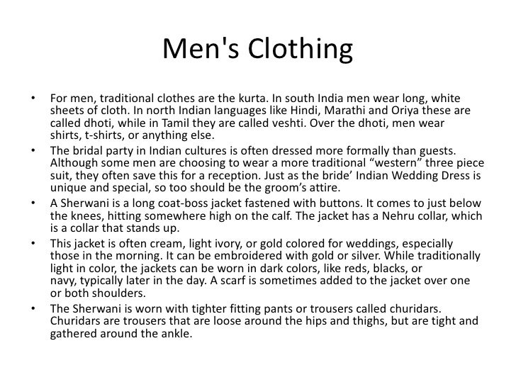 Clothing In India