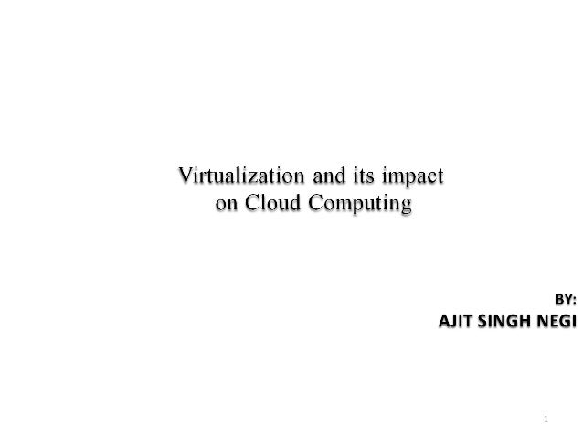 Cloud Computing using virtulization
