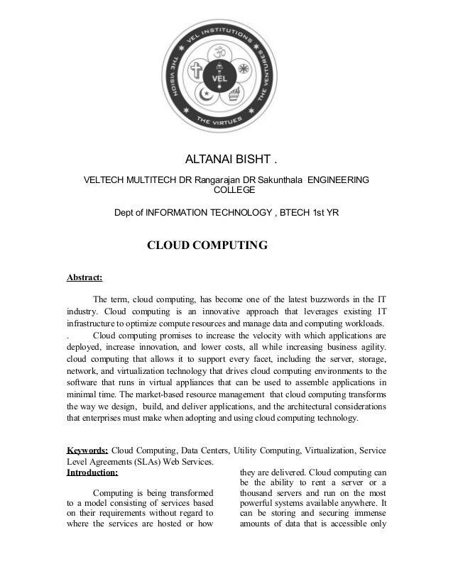 ALTANAI BISHT . VELTECH MULTITECH DR Rangarajan DR Sakunthala ENGINEERING COLLEGE Dept of INFORMATION TECHNOLOGY , BTECH 1...