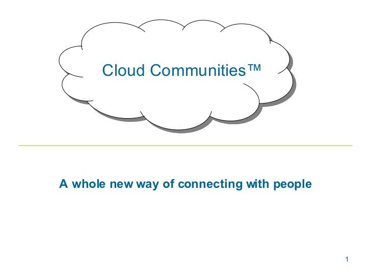 Cloud Communities