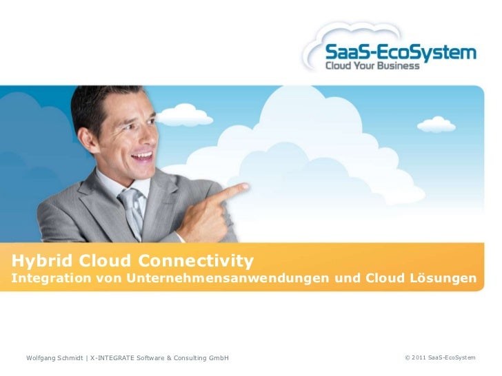 Hybrid Cloud ConnectivityIntegration von Unternehmensanwendungen und Cloud Lösungen Wolfgang Schmidt   X-INTEGRATE Softwar...